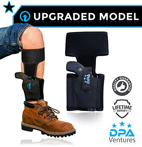 Cowboy Belt Frame (Ankle Holster For Concealed Carry | Neoprene, Universal, Adjustable, Gun/Pistol Leg Holster with Mag Pouch For Glock 26, 27, 30, 42, 43, Smith & Wesson Shield, Bodyguard .380, Sig Sauer,)