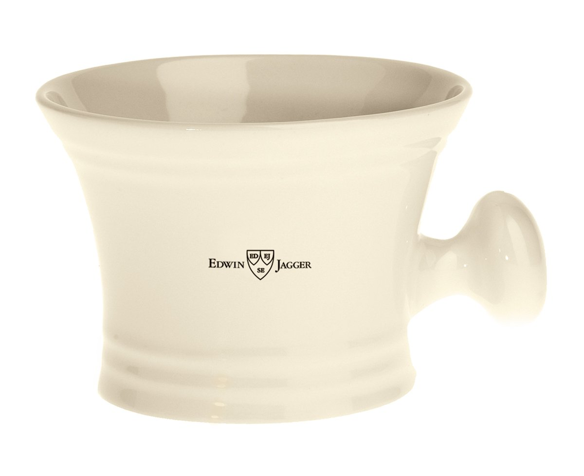 Edwin Jagger Ivory Porcelain Shaving Soap Bowl With Handle Rn47 RN47AMZ