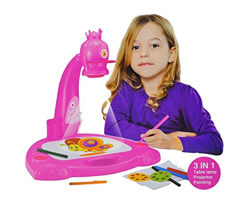 amazon com little treasures smart projector painting 3 in 1 art set