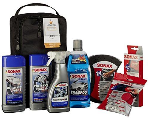 SONAX 761541 AutopflegeSet mit Tasche, 7 Teile