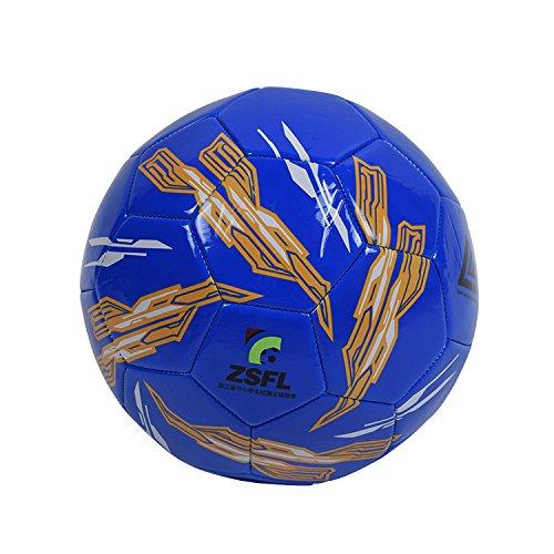Mecar no。5 PVCカラーフットボールYouth児童プロフェッショナルフットボールボールピンを送信し、ブルー B07C52NC6D