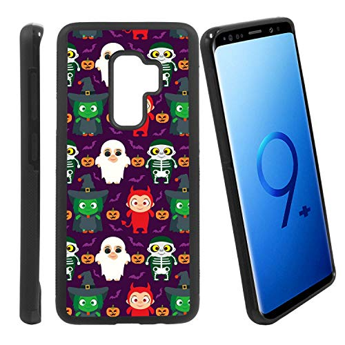 [Funny Kids in Halloween Costume] Compatible with Samsung Galaxy S9+ / G965U/G965W, Non-Slip Soft Rubber Side & Hard Back Case Cover Shell Skin ()