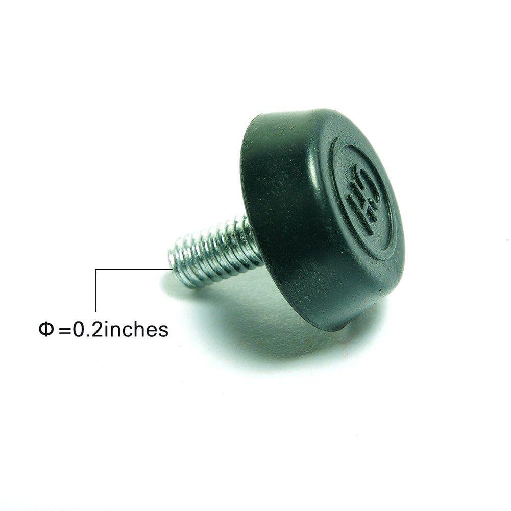 Schrauben auf M/öbel Glide Nivellierung Fu/ß Einsteller 6mmx18mmx15mm 20 Stk