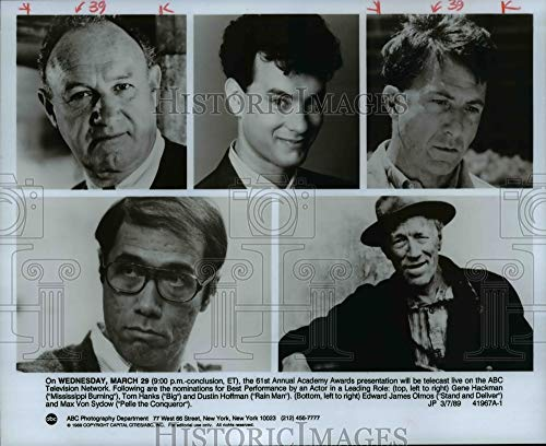Historic Images - 1989 Press Photo Nominees for Academy Awards for Best Actors