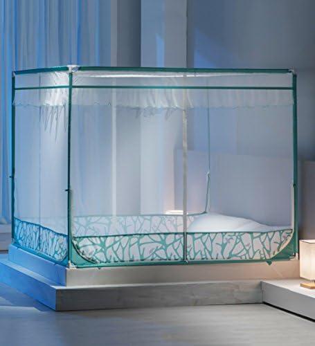 LIQICAI 모기장 100% 폴리에스터 견고한 철제 스탠드 모기 가시 교 방지, 편리한 3 도어 2 색 6 크기 옵션 (색상: 녹색 사이즈 절단: 1.20 x 1.92 x 1.40 m) / LIQICAI Mosquito Net 100% Polyester Sturdy Iron Stand Mosquito Bites, Convenient 3...