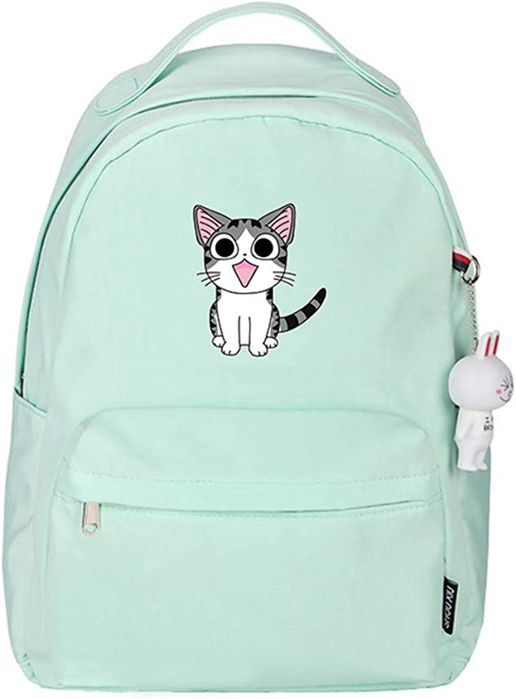 Gumstyle Chi's Sweet Home Anime Backpack Bookbag Waterproof Casual Bag Daypack for Girls Women with Rabbit Pendant