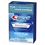 Crest 3D White Whitestrips Vivid Plus Teeth Whitening Kit, 24 Individual Strips (10 Vivid Plus...