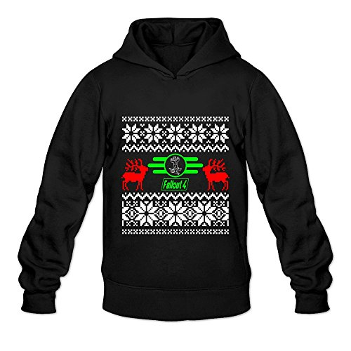 Price comparison product image Men's Fall Out 4 Game Christmas Logo Hoodie Size XXL Black