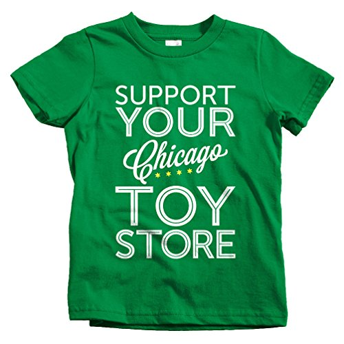 Special Blends Kids Support Your Chicago Toy Store T-Shirt - Kelly Green, Youth - Store Harlem Kids
