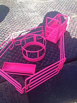 1//16th Scale Little Buster Toys Cattle Bunk Feeder in Pink