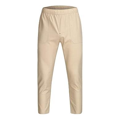 cinnamou Pantalones Hombre, Pantalones hasta Los Tobillos ...