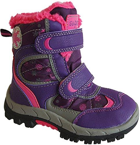 Mädchen Boots Kinder Winter Schuhe Warmfutter Gr.31 - 36 Art.-Nr. 5142 purpel