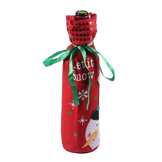 Winbang Telas de Tela Botellas de Vino Bolsas Decoraciones ...