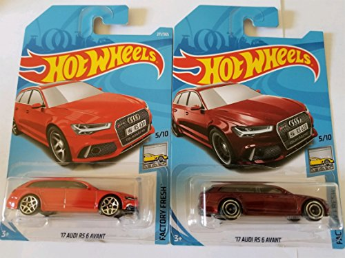 Hot Wheels 2018 Factory Fresh 5/10 - '17 Audi RS 6 Avant (Basic Mainline & Super Treasure Hunt) - Set of 2