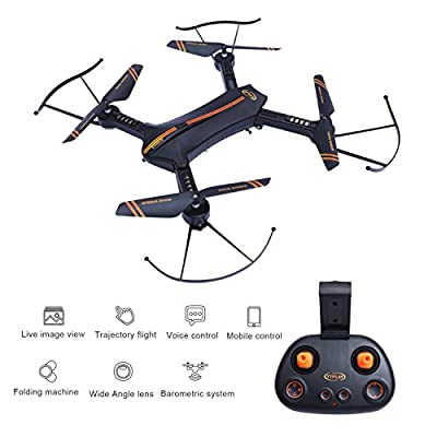 FPV RC Drone – LBKR Tech WiFi Live Feed RC Quadcopter with Camera,2.4Ghz 6-Axis Gyro 4CH Remote Control Quadcopter Drone with Altitude Hold, Headless, One Key Take Off, Landing, Return Home from LBKR Tech