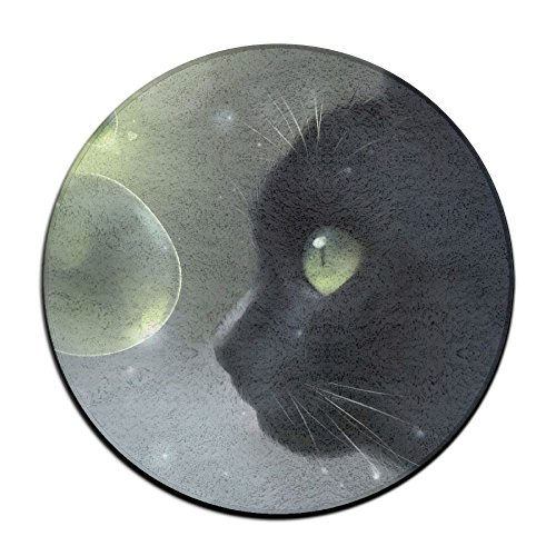 Waterproof Anime Cat Round Splash Splat Mat For Under High Chair Floor Protector Cover 23.6