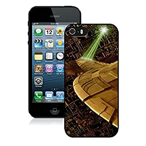 Star Trek The Borg Black iPhone 5S Screen Cover Case Durable and Attractive Design