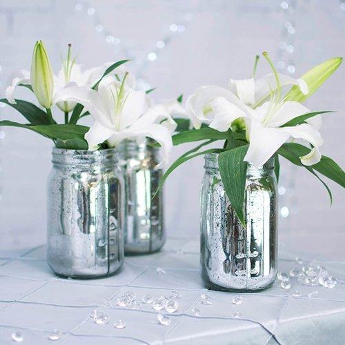 Mason Mercury Glass Inspired Silver
