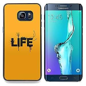 """Qstar Arte & diseño plástico duro Fundas Cover Cubre Hard Case Cover para Samsung Galaxy S6 Edge Plus / S6 Edge+ G928 (Tipografía Vida"""")"""