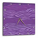 zebra print wall pics - 3dRose Cassie Peters Animal Print - Purple Zebra Print - 13x13 Wall Clock (dpp_283665_2)