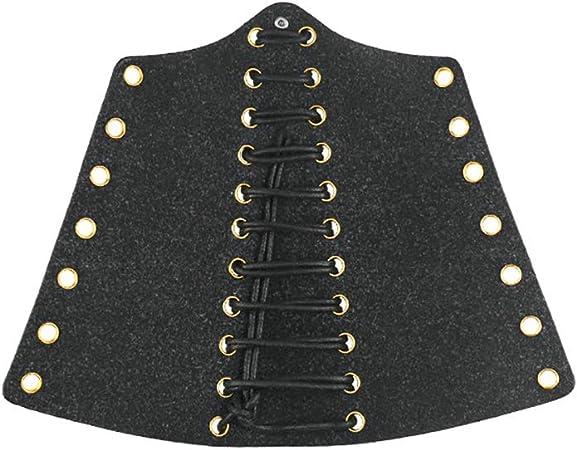 Protection de bras de vache v/éritable N/œud fait /à la main tir /à larc Gauntlet Main Gant de prise de vue Unisexe /équipement de protection Arm Bracer Armour Phb02