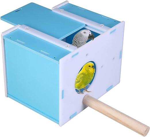 POPETPOP Nido de Pájaro de Plástico Lugar de Vida de Pájaros Criadero de Pájaros Creativo Caja de Cría Incubación de Pájaros Nido para Loros Periquitos Pájaros Se Mantienen Calientes: Amazon.es: Productos para