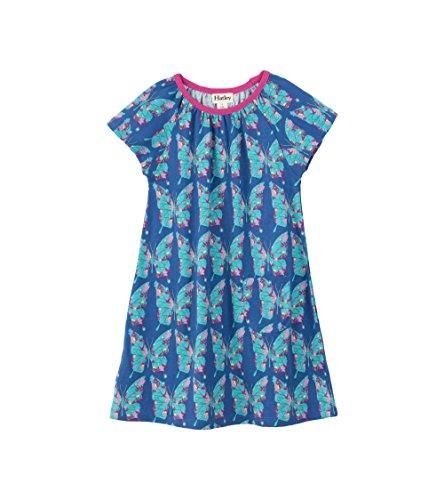 - Hatley Girls' Little Tee Dress, Cote D'Azur Butterfly, 3 Years