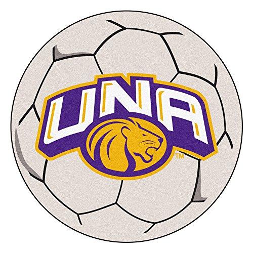 FANMATS NCAA University of North Alabama Lions Nylon Face Soccer Ball Rug ()