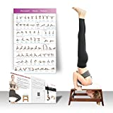 Restrial Life Yoga Headstand Bench - Yoga Inversion Trainer for Family, Gym - 100% Beech and PU Pads - Relieve Fatigue and Build Up Body (White)