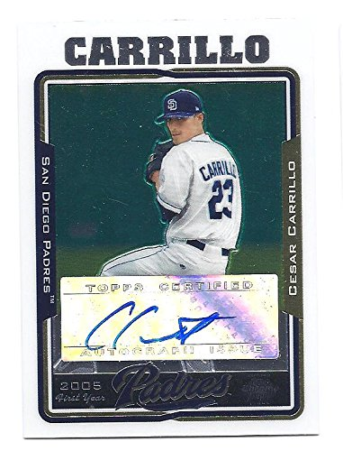 CESAR CARRILLO 2005 Topps Chrome Update #UH224 AUTOGRAPH Rookie Card RC San Diego Padres Baseball
