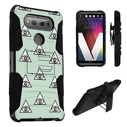 LG V20 Case, DuroCase Hybrid Dual Layer Combat Armor Style Kickstand Case w/ Belt Clip Holster Combo for LG V20 (Released in 2016) - (Eye Of Providence - Providence Mall In