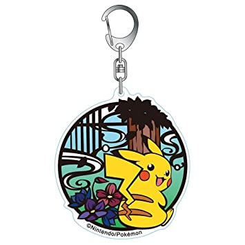 Pikachu llavero de acrilico serie Pokemon corte pintura ...