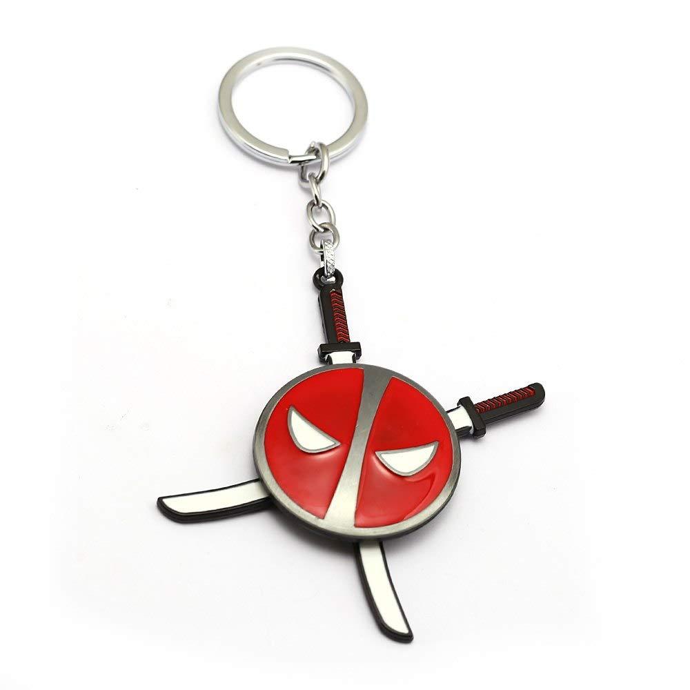 Mct12 - Rotatable Cartoon Anime Keychain Deadpool Llavero ...