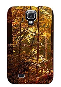 CuHmvKV2965TnOhM Case Cover Protector Series For Galaxy S4 Golden Forest Case For Lovers