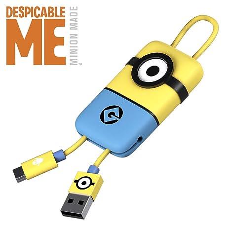 Tribe DM Minion - Llavero USB/MicroUSB, Color Amarillo y ...