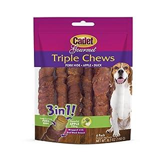 Cadet Gourmet Triple Chews Pork, Apple & Duck Dog Treats