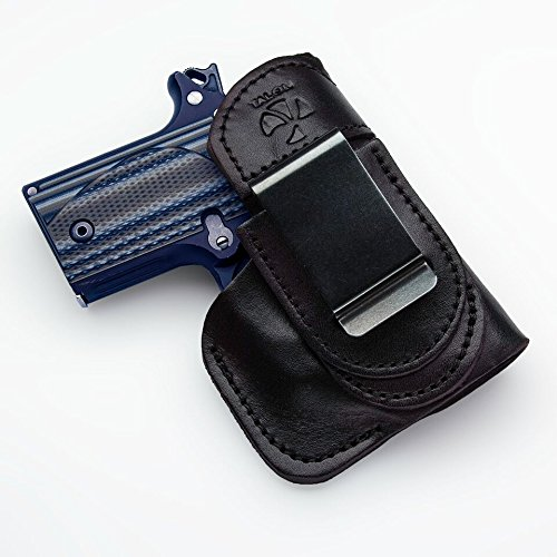 Talon Holsters Compatible Sig Sauer P-938 Tuckable IWB Concealed Carry Leather Holster w/Crimson Trace Laser (Black, Right Hand)