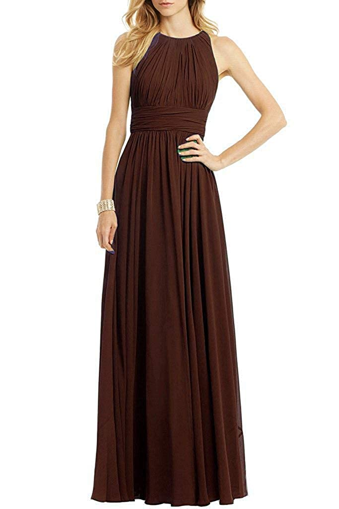Chocolate ASBridal Evening Dress Mermaid Prom Party Dress with Crystals Beading Long Satin Formal Evening Gown Backless