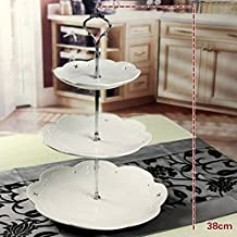 3 Tiers Stainless Steel Cake Stand – Fruit Candy Biscuit Dessert Stand - Birthday Wedding Tea Party - Lovin