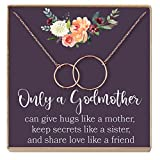Dear Ava Godmother Necklace: Godmother Gift, Godmother, Godmother Proposal, Fairy Godmother, Be My Godmother, Godmother Request, 2 Interlocking Circles (rose-gold-plated-brass, NA)