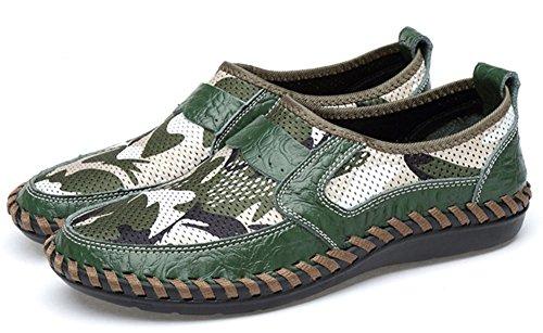 Loafers Enfiler Bout Easemax Mocassins Vert Homme Léger Coloré Fermeture à Rond gwxP8xFq