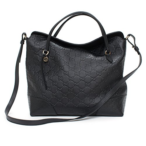 Gucci-Guccissima-Bree-Top-Short-Handle-Black-Leather-Flap-Small-Bag-Italy-Handbag-New