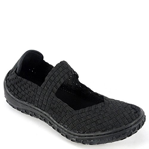 Corkys Womens Liz Fashion Woven Flats Shoes Black