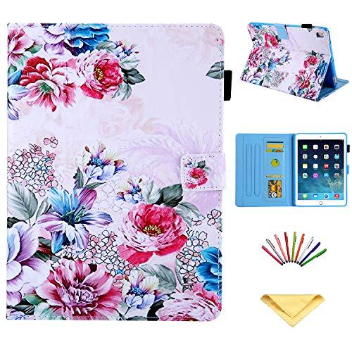 Uliking iPad 9.7 inch 2018 2017 Case (iPad 6th Gen, 5th Gen) /iPad Air 2 /iPad Air/iPad Pro 9.7 2016 Cover, Smart Folio Stand PU Leather TPU Shell with Pencil Holder [Auto Sleep Wake], Colored Rose ()