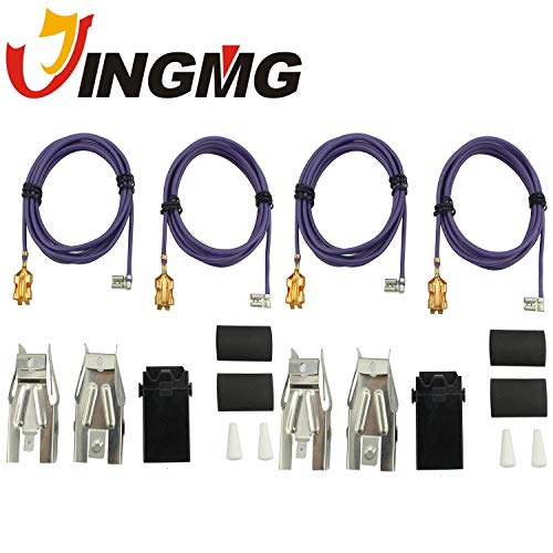 Jingmg WB17T10006 Range Surface Burner Receptacle Kit for GE Stove 2 SET