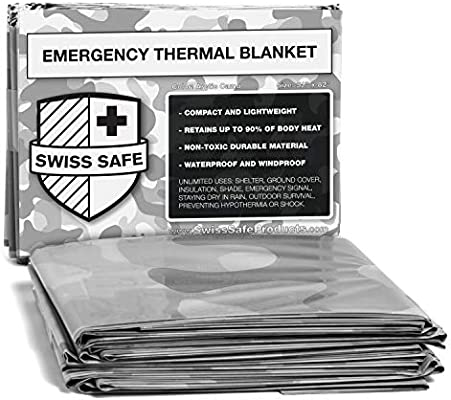 Emergency Mylar Thermal Blankets Pack of 100 Individually Packaged