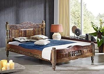 Bett 120x200 holz  massiv Holz Möbel Vintage lackiert Bett 120x200 Altholz massiv ...