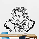 Jon Snow Wall Decal Game Of Thrones Vinyl Sticker Winter Is Coming Fantasy Movie Wall Art Design Housewares Kids Room Bedroom Decor Removable Wall Mural 37zzz