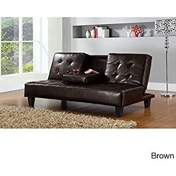 futon sofa beds direct discount code cuba bed argos single this item fold up down recliner couch drop cup holder tray brown