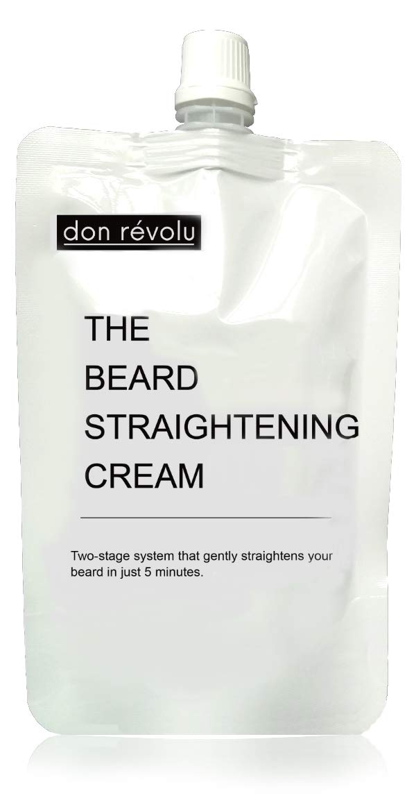 Beard Relaxer Cream | Beard Straightener | Gently straightens curly beards in just 5 minutes | Fuller and longer looking beard | Results last up to 3 months Don Révolu